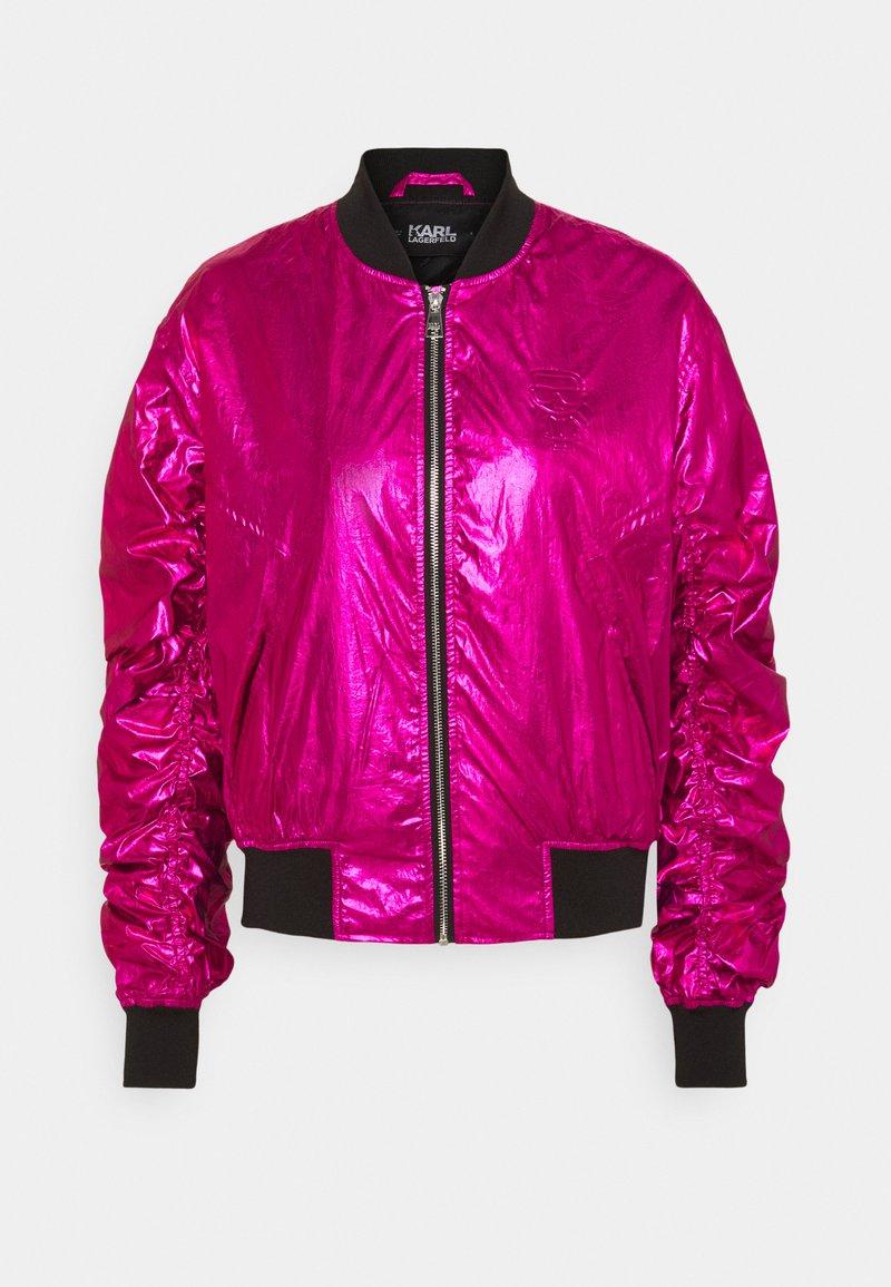 KARL LAGERFELD - IKONIK - Bombertakki - metallic pink