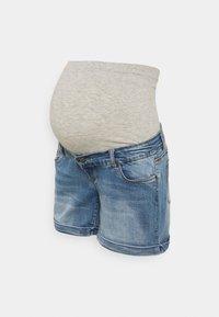 MAMALICIOUS - MLYORK - Denim shorts - medium blue denim - 0