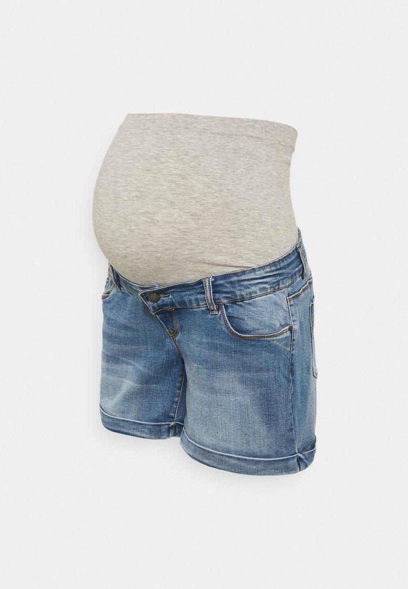 MAMALICIOUS - MLYORK - Denim shorts - medium blue denim