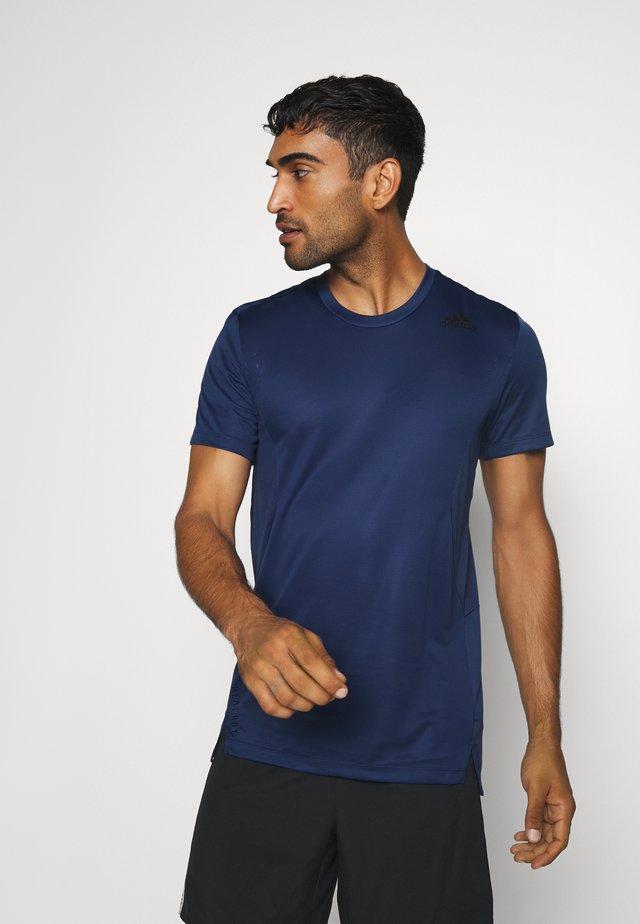 HEAT.RDY TRAINING SLIM SHORT SLEEVE TEE - T-Shirt print - tech indigo