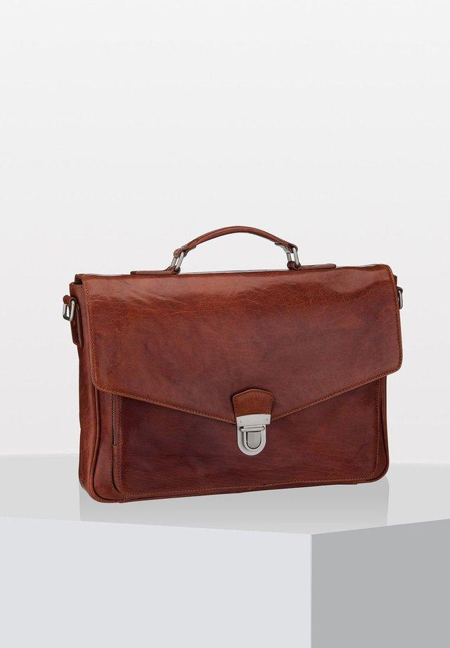AUSTIN - Briefcase - cognac