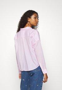 Tommy Jeans - BOLD STRIPE - Button-down blouse - romantic pink/white - 2