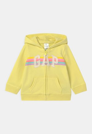 GIRL LOGO - Zip-up hoodie - lime juice