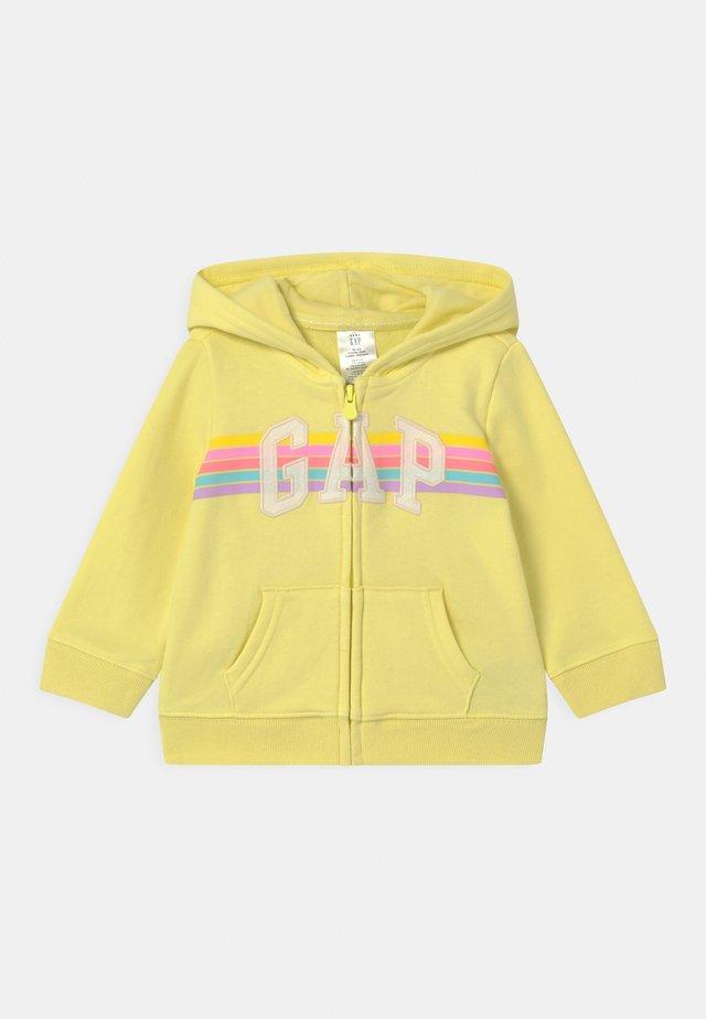 GIRL LOGO - Zip-up hoodie - lime juice