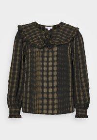 Topshop - CHECK COLLAR - Long sleeved top - khaki - 3