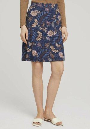 A-line skirt - navy floral design