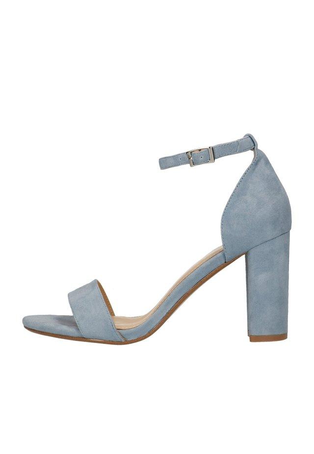 High heeled sandals - blau