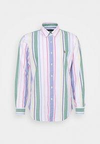 CUSTOM FIT STRIPED OXFORD SHIRT - Shirt - white/green/multi