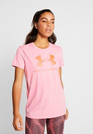 GRAPHIC SPORTSTYLE CLASSIC CREW - T-shirt con stampa - lipstick/beta