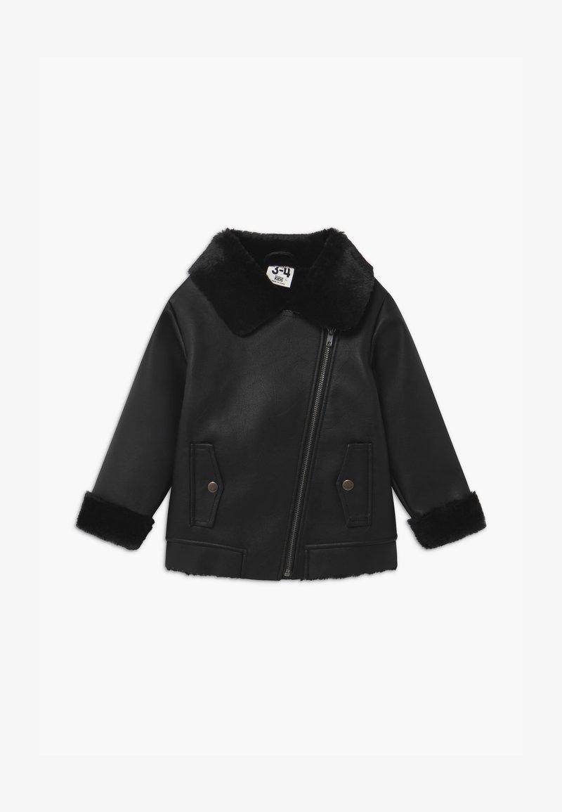 Cotton On - OLIVIA BIKER - Faux leather jacket - black