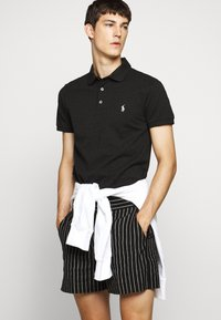 Polo Ralph Lauren - SLIM FIT MODEL - Polo shirt - black marl heather - 4