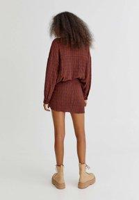 PULL&BEAR - Wrap skirt - orange - 2