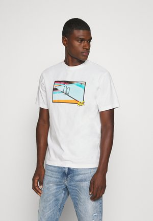 UNISEX SET IN TEE - Print T-shirt - cool white