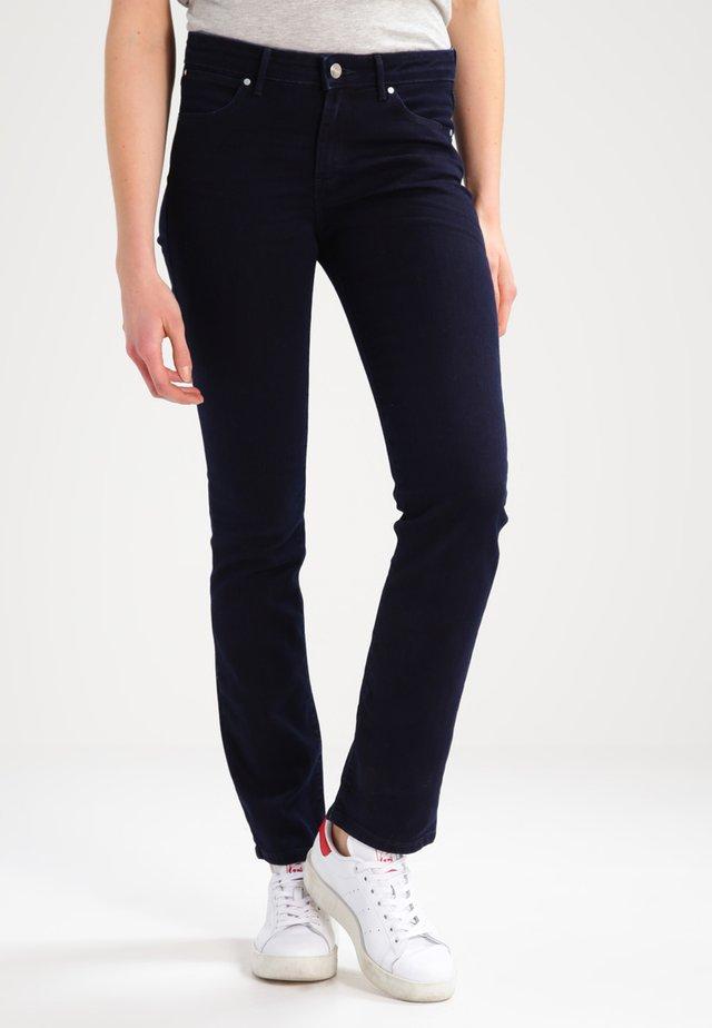 STRAIGHT - Straight leg jeans - blueblack
