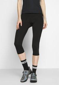 Ziener - NABIR X-GEL - 3/4 sportovní kalhoty - black - 0