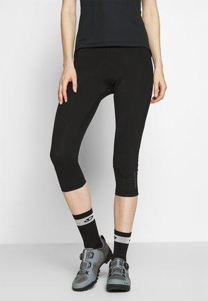 NABIR X-GEL - 3/4 sportovní kalhoty - black