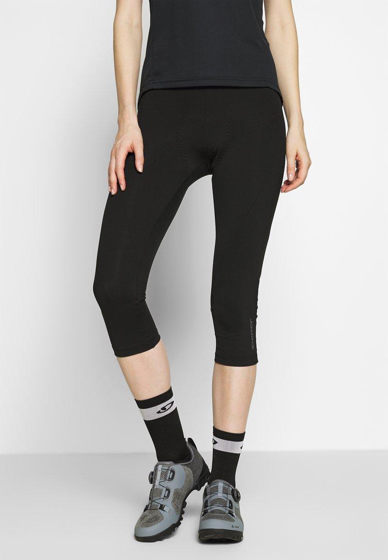 Ziener - NABIR X-GEL - 3/4 sportovní kalhoty - black