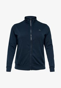 ONLY Play - ONPELINA HIGH NECK CURVY  - Zip-up hoodie - navy blazer - 4