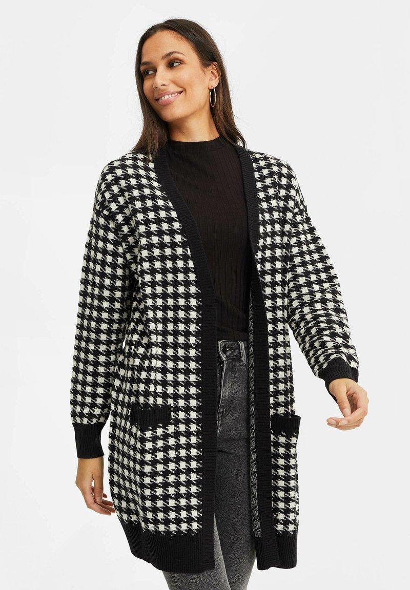 WE Fashion - DAMES PIED DE POULE VEST - Gilet - black