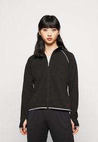 ONLY PLAY Petite - ONPPERFORMANCE RUN BRUSHED ZIP - Training jacket - black - 0