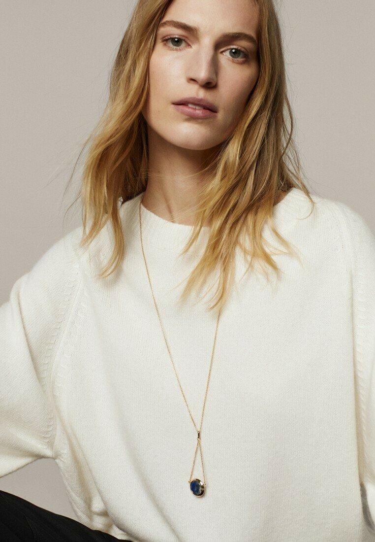 Massimo Dutti - MIT STEIN  - Necklace - gold