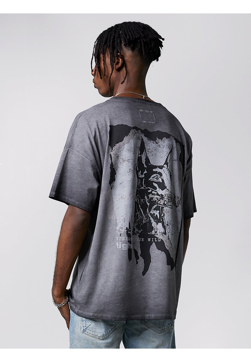 Tigha - Print T-shirt - vintage black