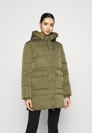 HOODED  - Winter coat - olive tree