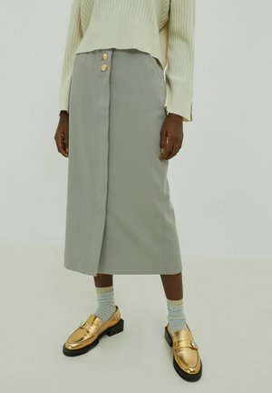 MILA - Wrap skirt - grau