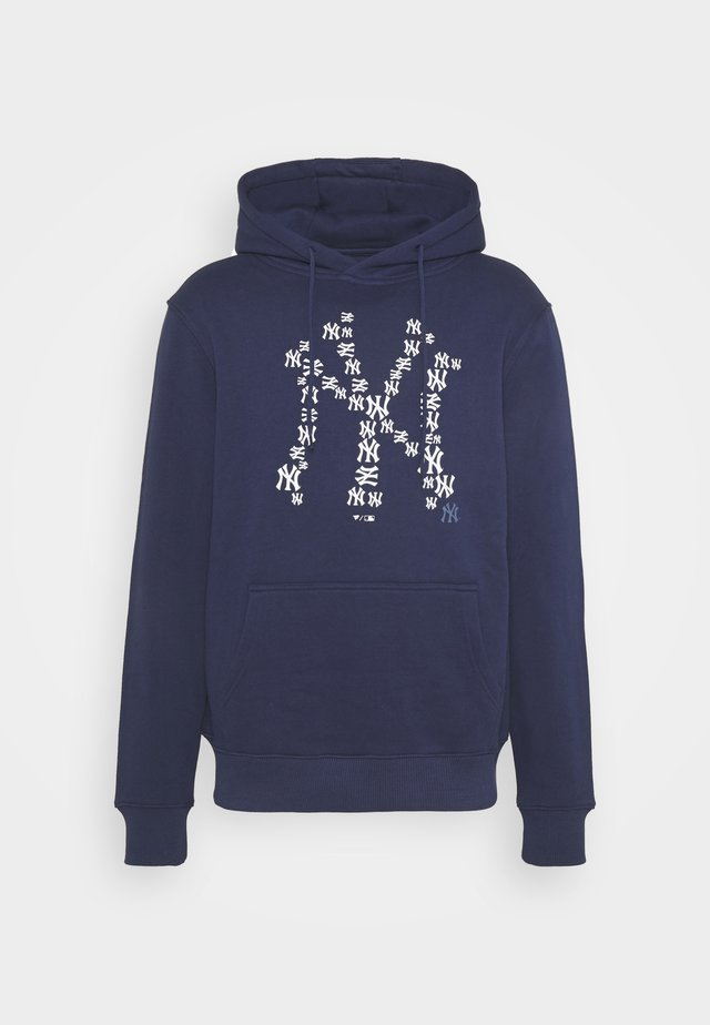 MLB NEW YORK YANKEES INFILL CORE GRAPHIC HOODIE - Fanartikel - navy