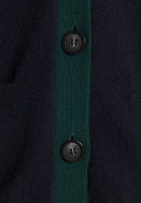 pure cashmere - CLASSIC CARDIGAN - Kardigan - dark navy/deep green - 2