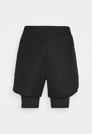 DOUBLE LAYER TRAINING SHORTS - Pantaloncini sportivi - black