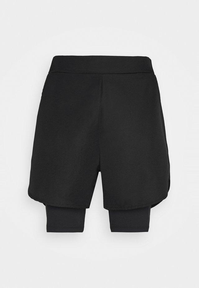 DOUBLE LAYER TRAINING SHORTS - Sports shorts - black