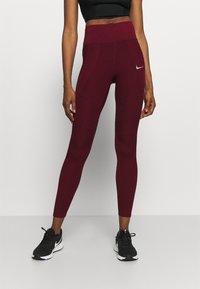 Nike Performance - EPIC LUX RUNWAY - Leggings - dark beetroot - 0