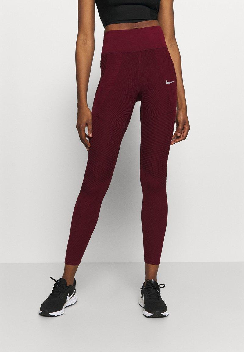 Nike Performance - EPIC LUX RUNWAY - Leggings - dark beetroot
