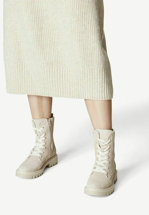 Lace-up ankle boots - antelope suede