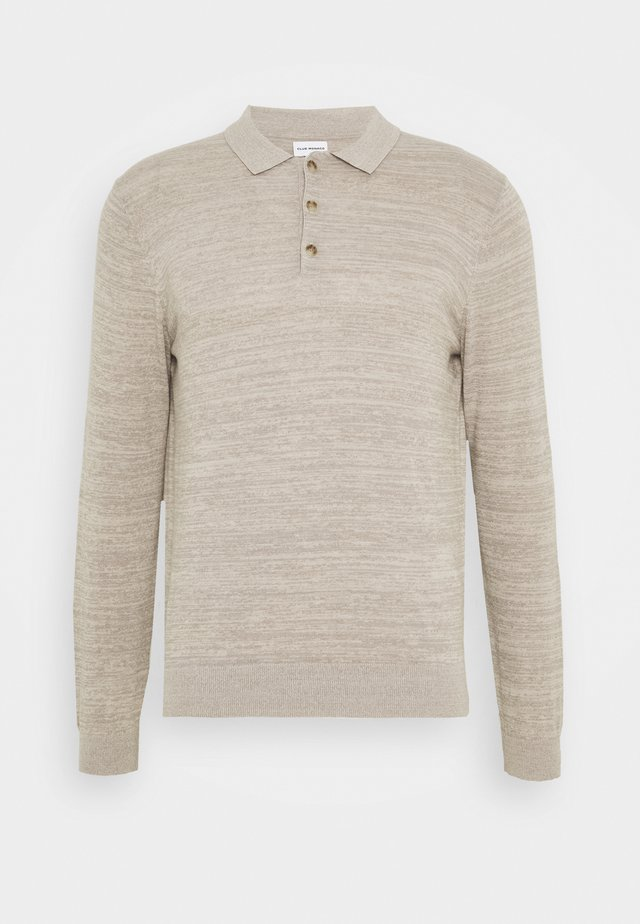 SUMMER POLO - Strickpullover - taupe