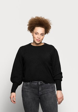 PCPAM O NECK - Jumper - black