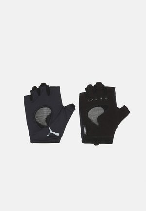 GYM GLOVES - Fingerless gloves - black/gray violet