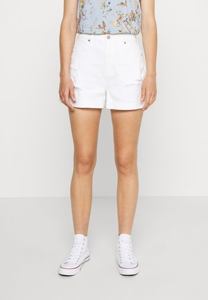 CURVY MOM  - Denim shorts - white