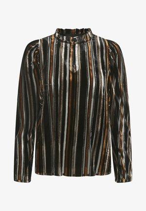FUIA - Maglietta a manica lunga - stripe burnout, black