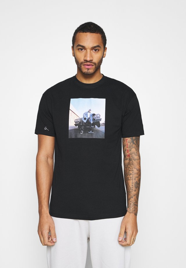 EAZY - T-shirt print - black