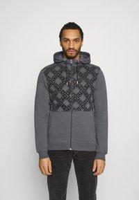 Glorious Gangsta - DANTOSZIP THROUGH - Zip-up hoodie - charcaol - 0