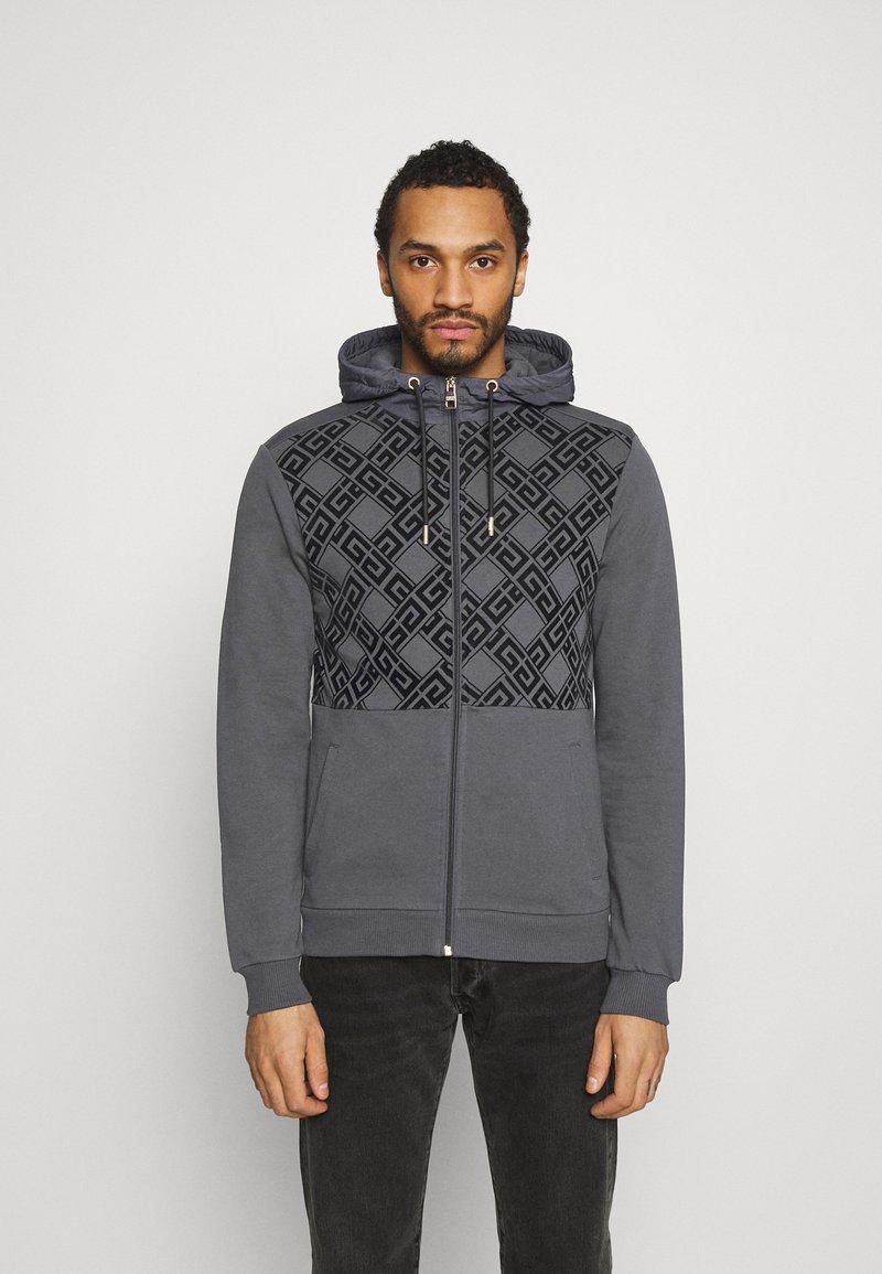 Glorious Gangsta - DANTOSZIP THROUGH - Zip-up hoodie - charcaol