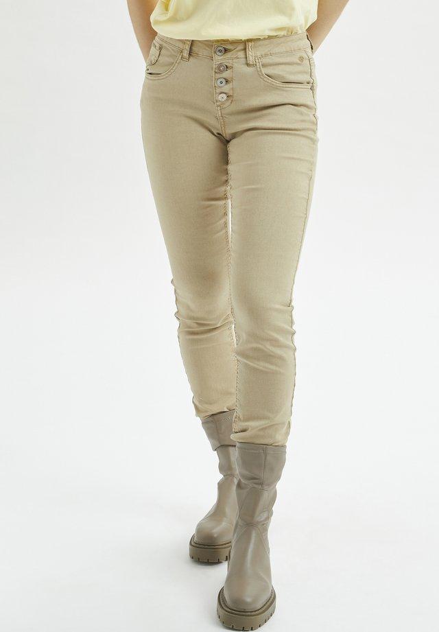 CRLOTTE  - Jeans slim fit - beige