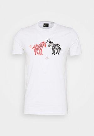 MENS SLIM FIT HALO DEVIL ZEBRAS - Print T-shirt - white