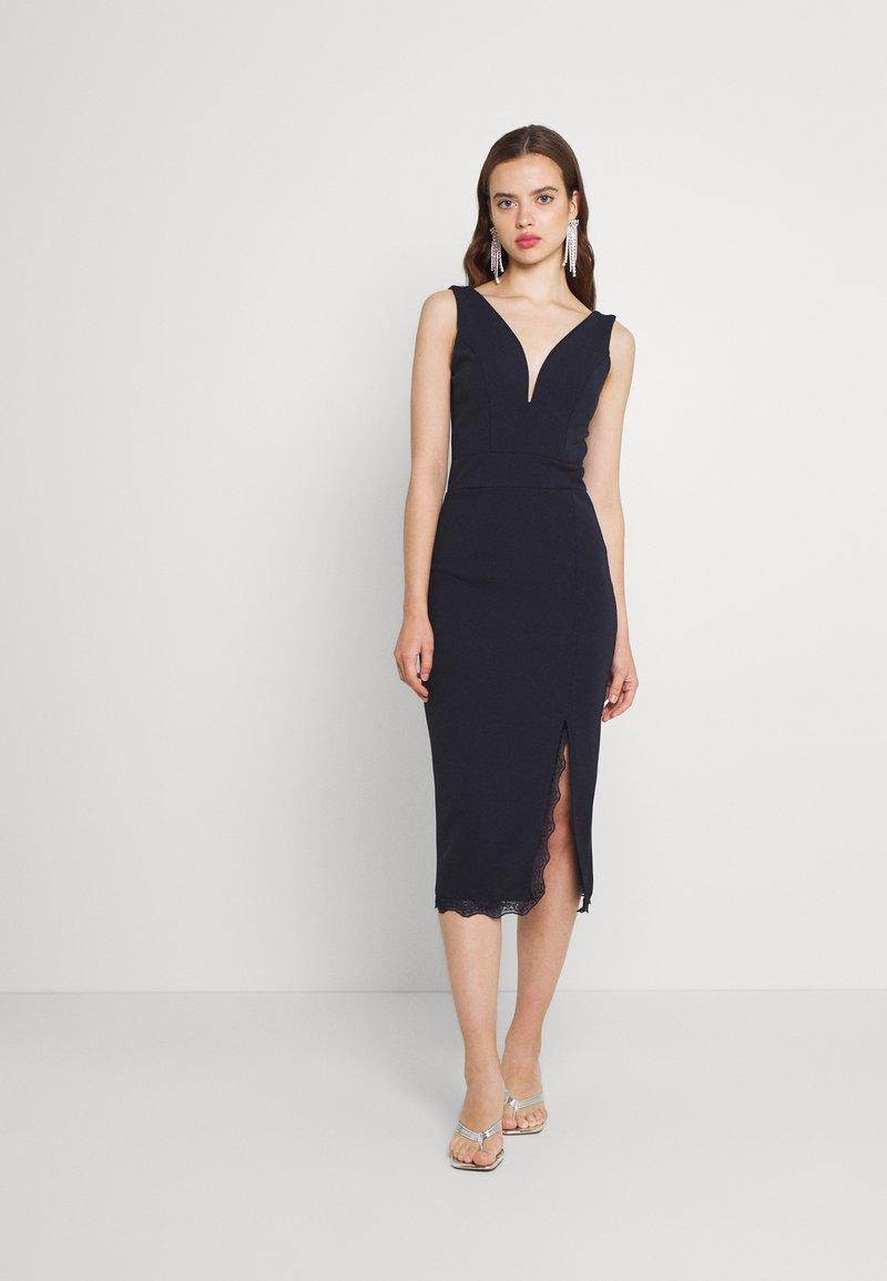 WAL G. - CHANTELLE MIDI DRESS - Jersey dress - navy blue