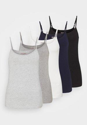 5 PACK - Top - black /white/light grey/blue