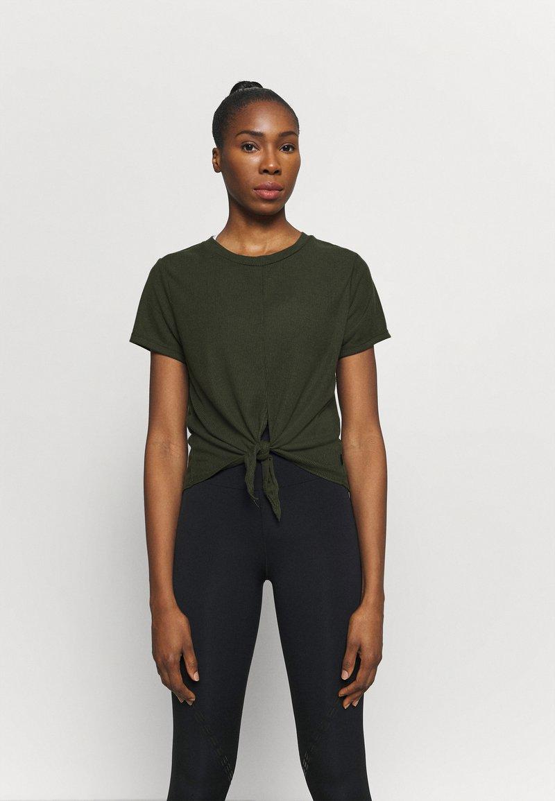 Cotton On Body - TIE UP  - Basic T-shirt - khaki