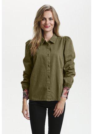 Long sleeved top - Burnt Olive