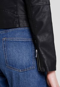ONLY - ONYFILIPPA - Faux leather jacket - black - 3